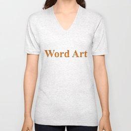 Word Art Unisex V-Neck