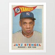 Jay Z Stengel Art Print