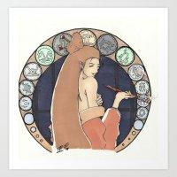 zodiac Art Prints featuring Zodiac by Francois Boucicault