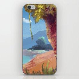 Volcano view iPhone Skin