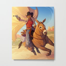 Stagecoach Mary Metal Print