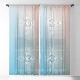 Alpha waves   Void Sheer Curtain