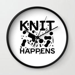 Knitting | Sewing Knitters Hobby Gift Wall Clock