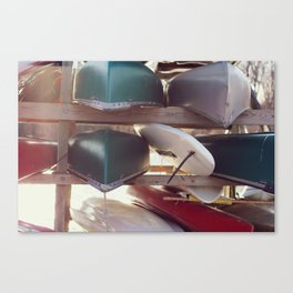 Canoes and Kayaks Canvas Print