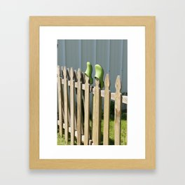 Left at the Fence Framed Art Print