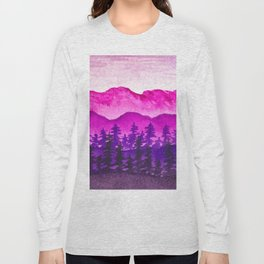 Purple and pink mountains Long Sleeve T-shirt