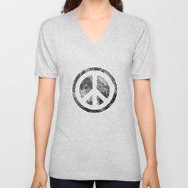 Peace Symbol-Dissd Unisex V-Neck