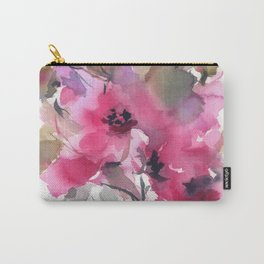 Red Water Blooms Carry-All Pouch