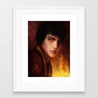 zuko Framed Art Prints featuring Zuko by Jasric Art