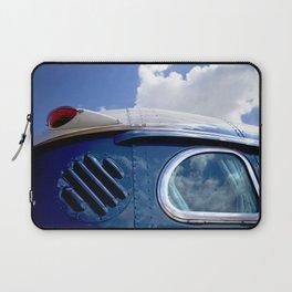 VINTAGE - Cool Vintage Classic Blue Bus Laptop Sleeve