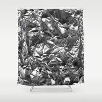 heavy metal Shower Curtains featuring Heavy Metal Crush by BruceStanfieldArtist.DarkSide