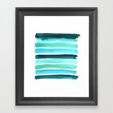 Beach colors Framed Art Print