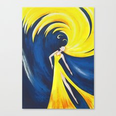 Abstract Wave Girl Canvas Print