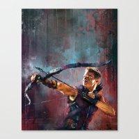 clint barton Canvas Prints featuring Clint Barton by Wisesnail