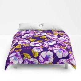 Midnight Blooms Comforters