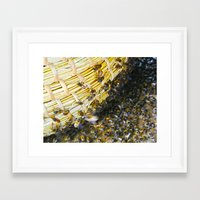 bees Framed Art Prints featuring Bees! by Creative Lore