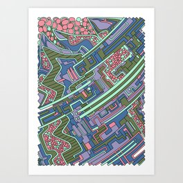 Wandering 28: color variation 1 Art Print