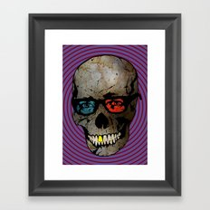 Life Seems Much More Exciting For Skullboy Since He Got A New Pair Of Glasses Framed Art Print