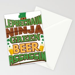 Leprechaun Ninja Unique St Patricks Day  Stationery Cards