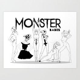 monster babes Art Print