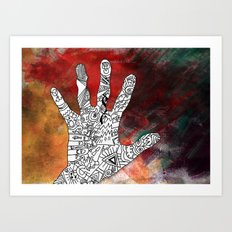 Touch Reality Art Print