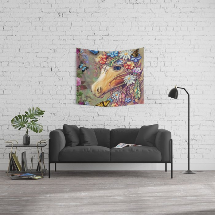 Hippie Horse Wall Tapestry