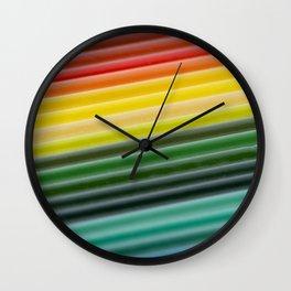 Coloured pencils Wall Clock