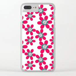 Red paper flowers Clear iPhone Case