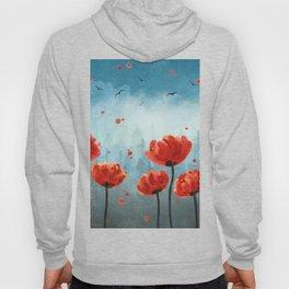 Poppy flowers - Misty Forest Hoody