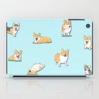 corgi iPad Cases featuring Corgi by okayleigh