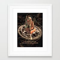 cthulhu Framed Art Prints featuring Cthulhu by TheMagicWarrior