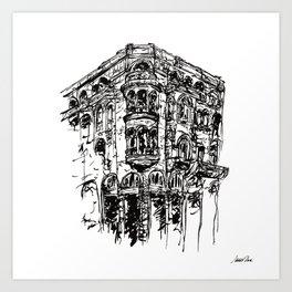 Urban Inkscape 1 Thessaloniki Art Print