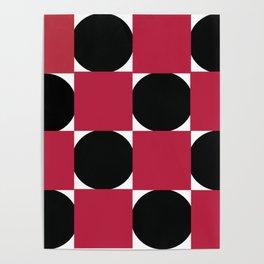 Digital Checkerboard Poster