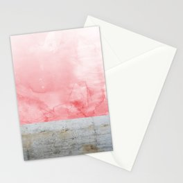 Concrete and Pink Stationery Cards
