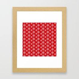 Winter Wonderland Snowflake Christmas Pattern Framed Art Print