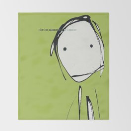« têtes de caboche .5 »   Throw Blanket