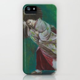 The Geisha on the Washing Line iPhone Case