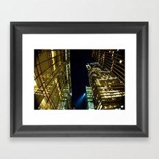 Warped Metropolis  Framed Art Print