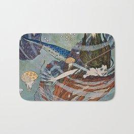 """""""The Little Mermaid"""" by Edmund Dulac Bath Mat"""