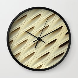 The Broad In the Afternoon Vintage Retro Pattern Photography I Wall Clock