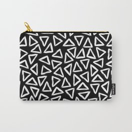 White Brush Strokes Carry-All Pouch