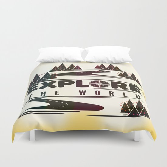 Explore the world Duvet Cover