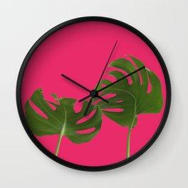 Monstera madness VI Wall Clock