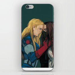 Cap&WinterSoldier(female iPhone Skin