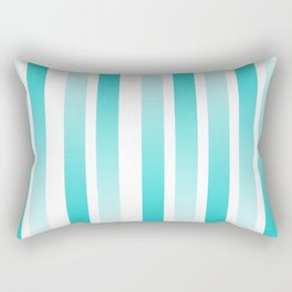 Blue Gradient Lines Rectangular Pillow