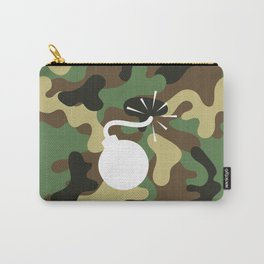 CAMO & WHITE BOMB DIGGITY Carry-All Pouch