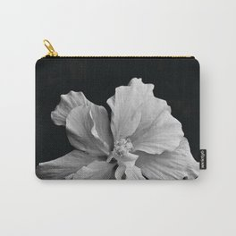 Hibiscus Drama - Black and Grey Carry-All Pouch