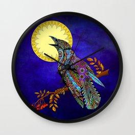 Electric Crow Wall Clock