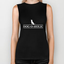 Dog-o-holic Funny Graphic Dog Lovers T-shirt Biker Tank