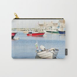 Boats Reflecting in Harbor in Nantucket Carry-All Pouch